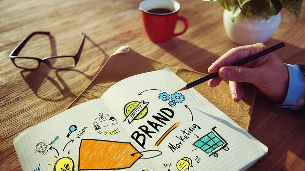 Image of a businessman illustrating the concept of a brand