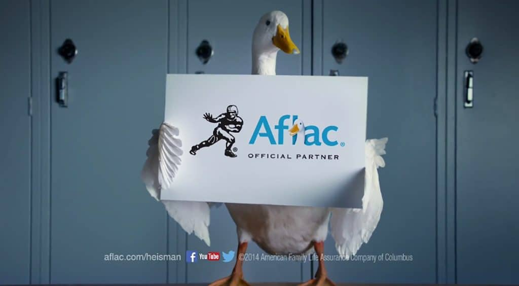 Image of an Aflac advertisement
