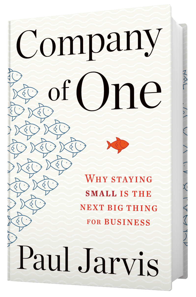 Company of One Book by Paul Jarvis