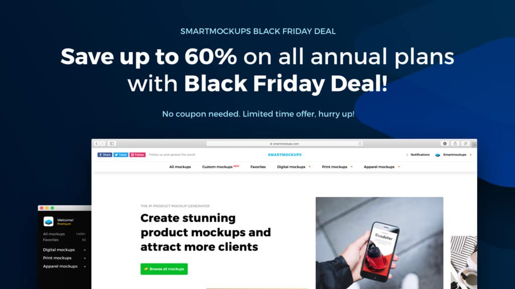 Smart Mockups Black Friday