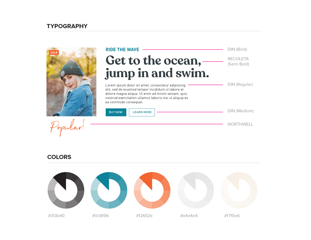 Typography and Color Styleguide