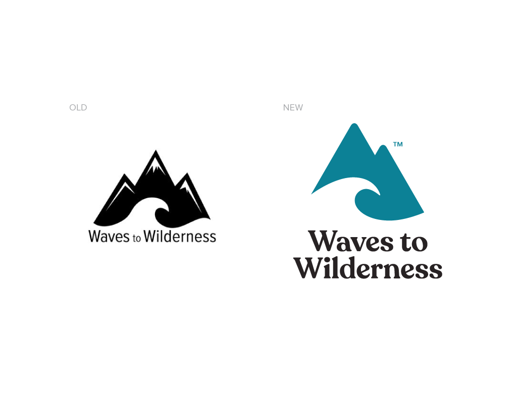 Waves to Wilderness Old Logo VS New Logo