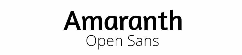 Amaranth & Open Sans Font Combination