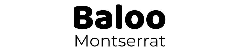 Combinación de fuentes Baloo y Montserrat