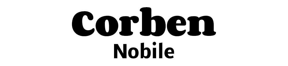 Combinación de fuentes Corben Nobile