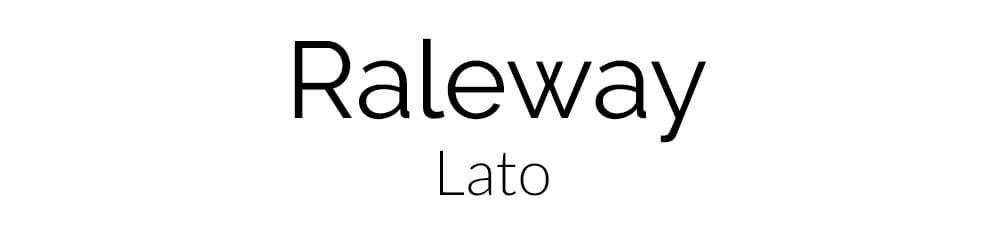 Font Combination Raleway and Lato
