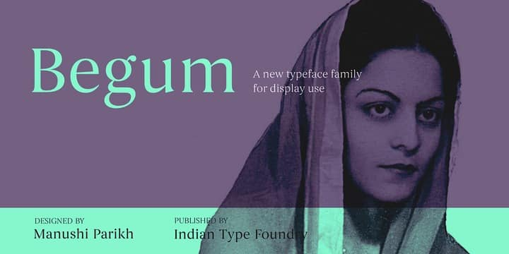 Begum Elegant Serif Font for Logo Design and Branding