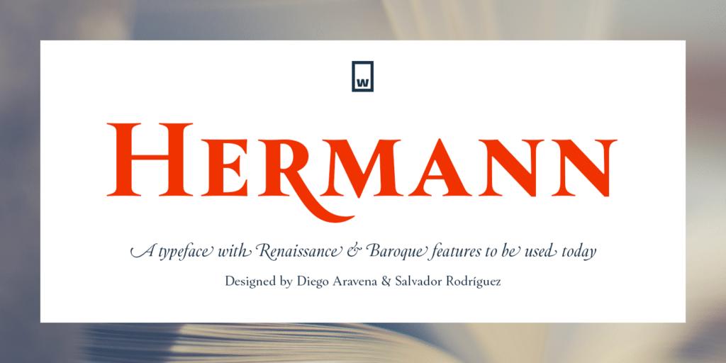 Hermann Bold Serif Font for Logo Design