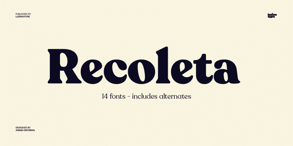 Recoleta Strong Modern Serif Font for Logo Design