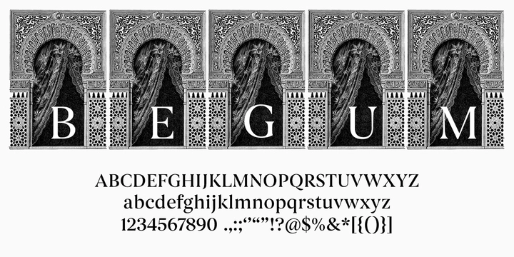 Begum Ethnic Serif Font for Logo Design and Branding