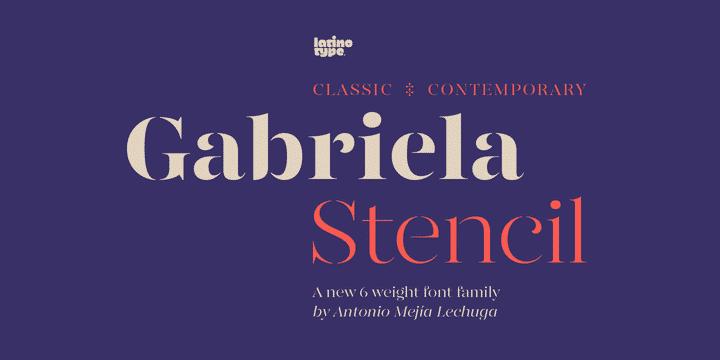 Gabreila Stencil Serif Font for Logo Design