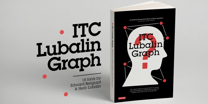 ITC Lubalin Graph Modern Slab Serif Font for Logo Design
