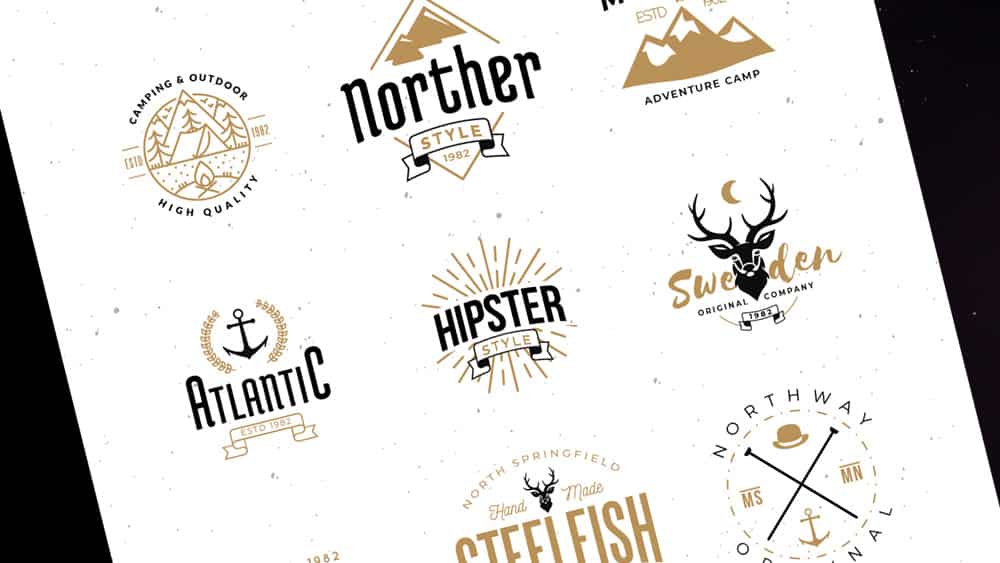 Free Logo Template Pack Hipster Retro Style