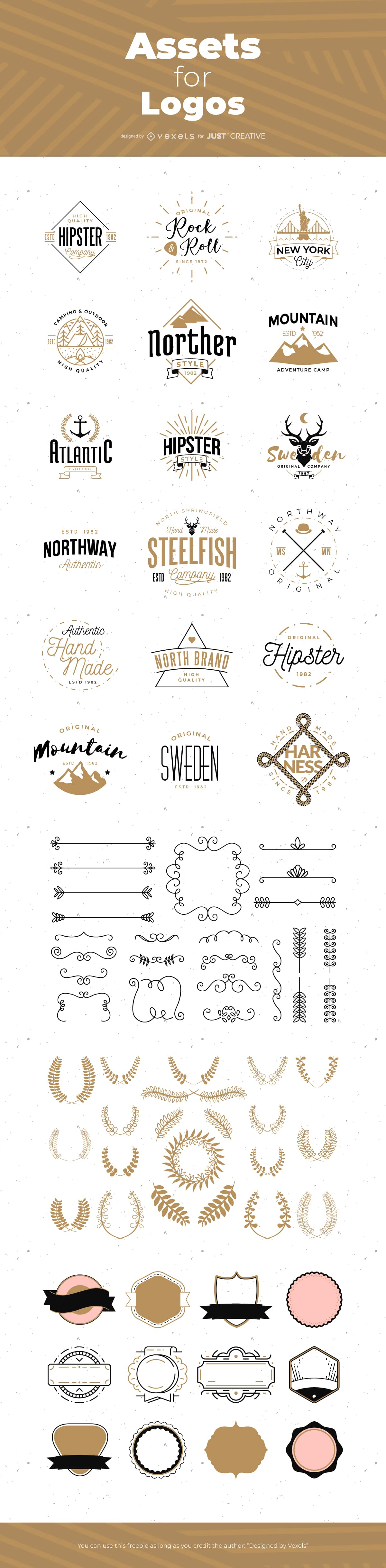 Download Logo Branding Asset Pack Free Hipster Style