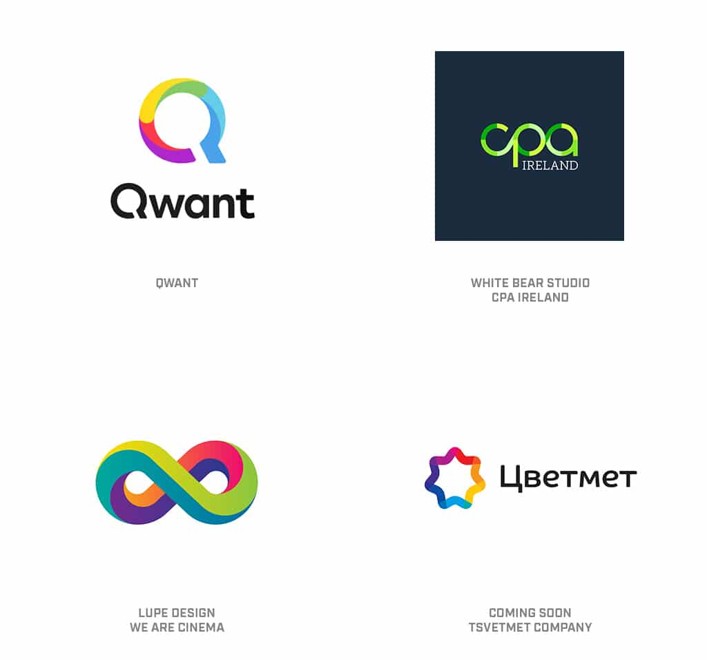 Gradient Breaks Logo Design Trend 2019