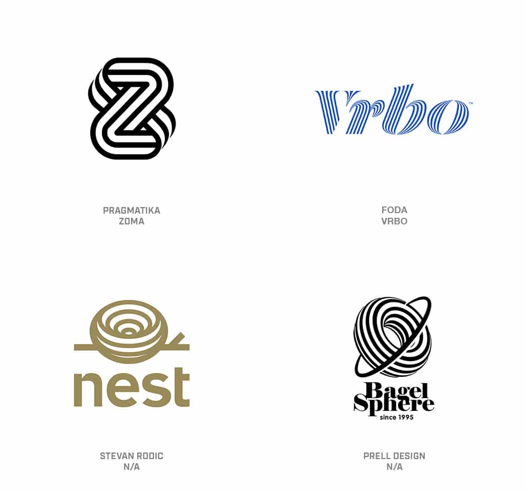 Contour Stripes Logo Design Trend 2019