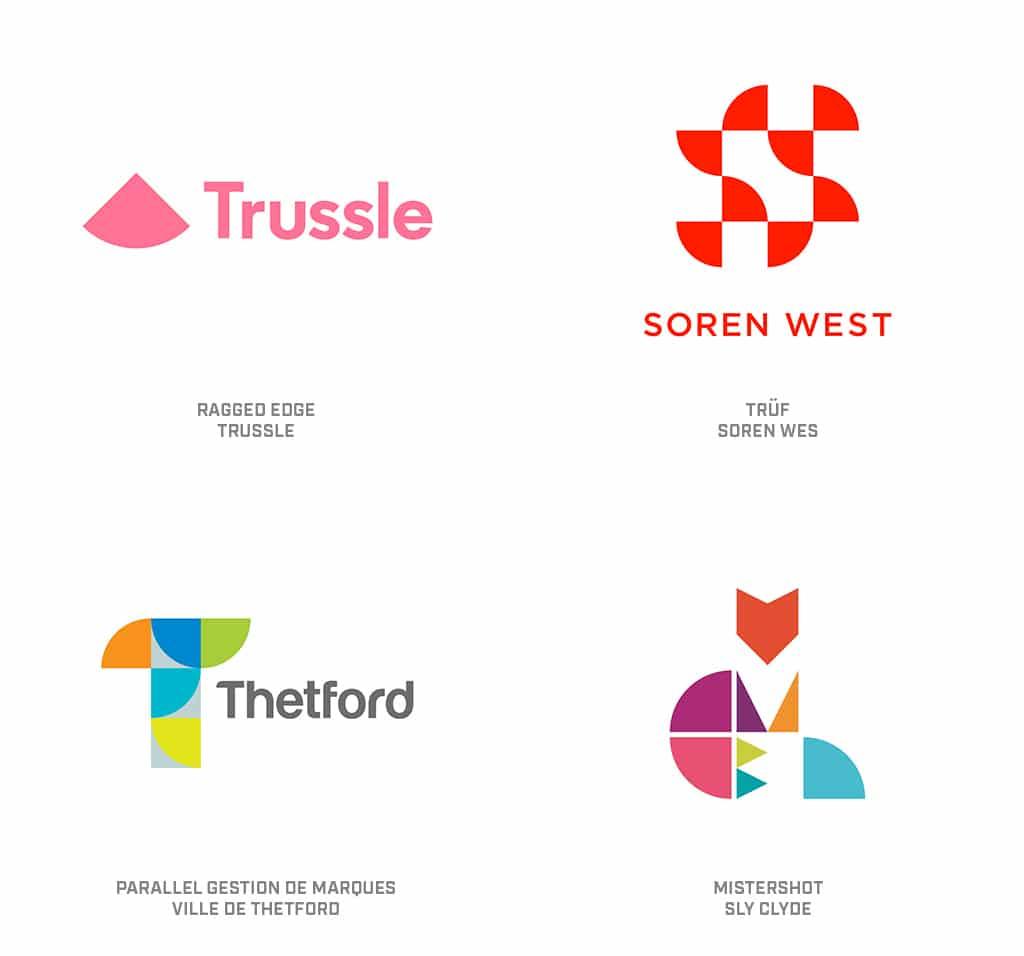 Quarters Logo Design Trend 2019