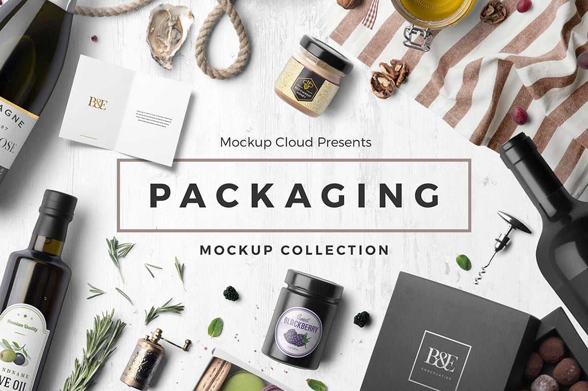Packaging Mockup Template Collection High Res PSD