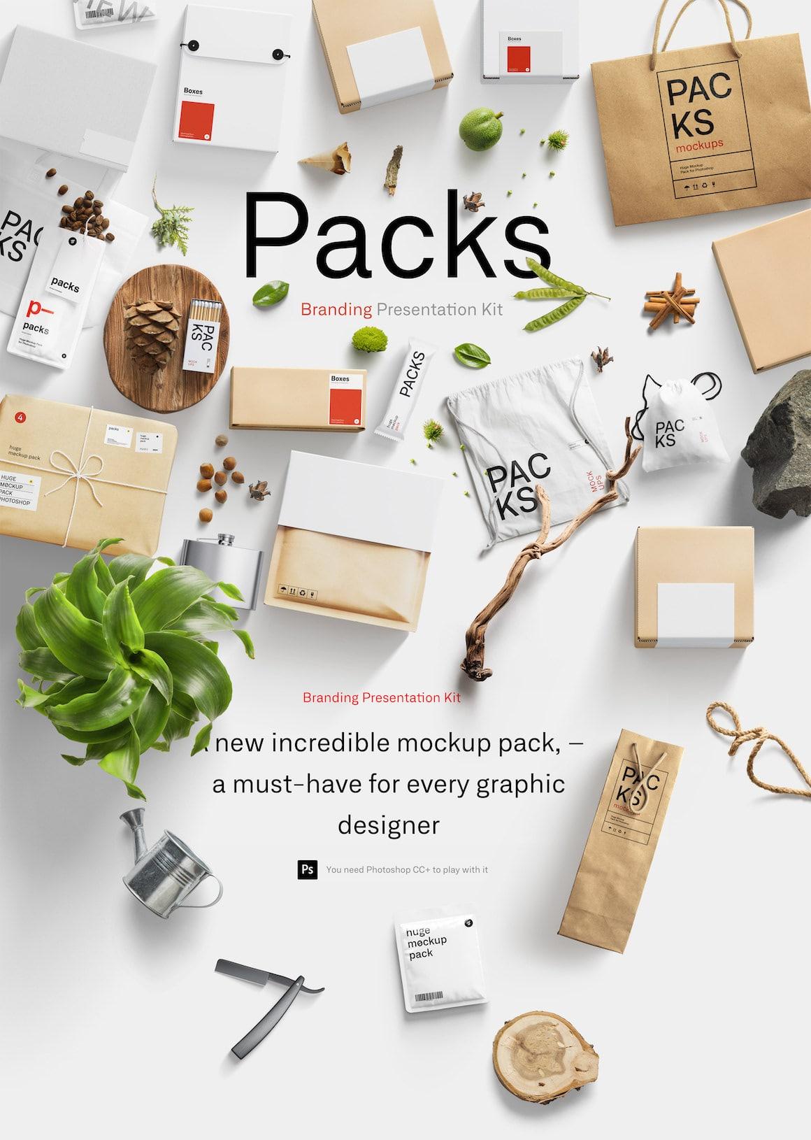 Brand Packaging Mockup Template