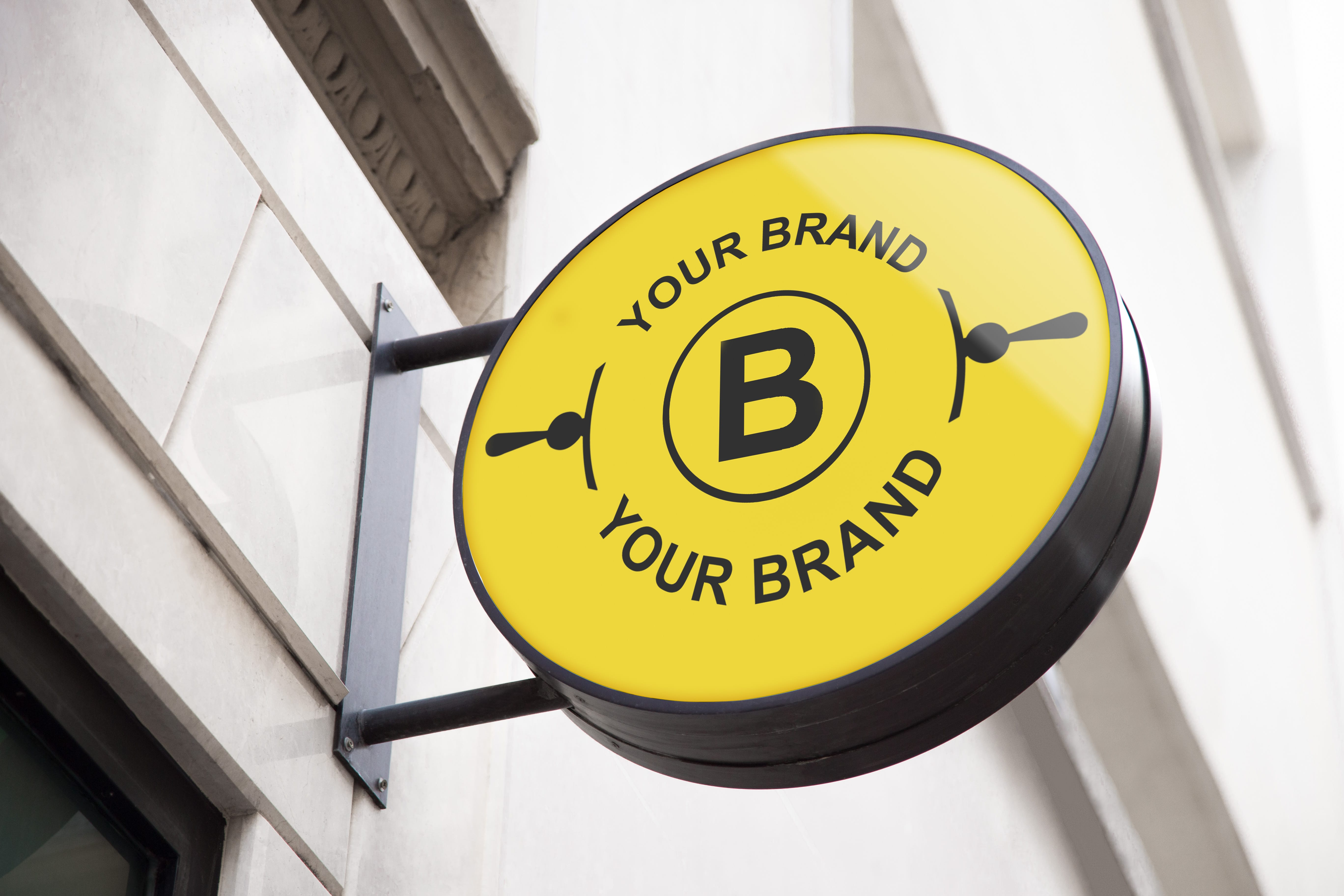 Freebie 8 Logo Mockup Templates On Store Fronts Signage High