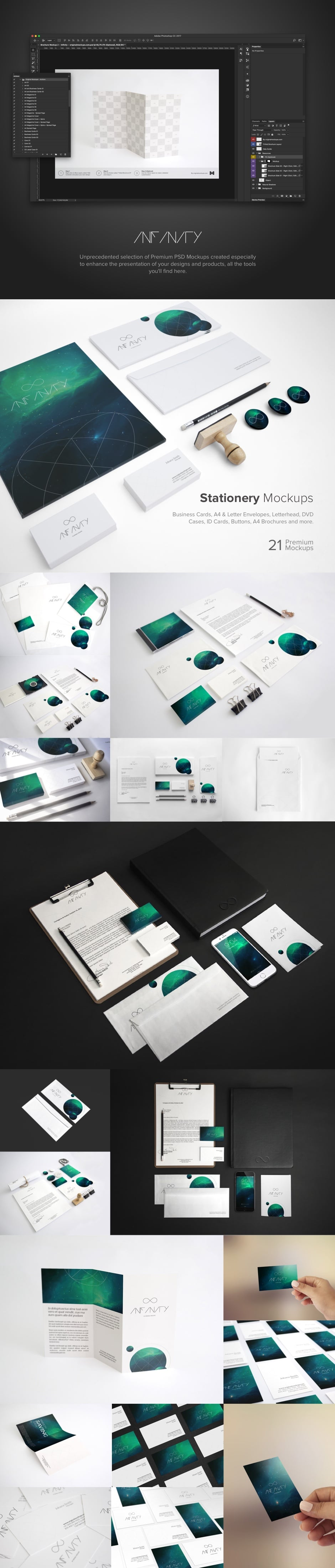 Infinity Branding Template Mockup