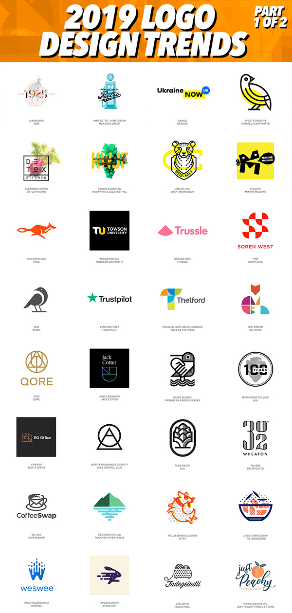 Logo Design Trends 2019 - Part 1 of 2