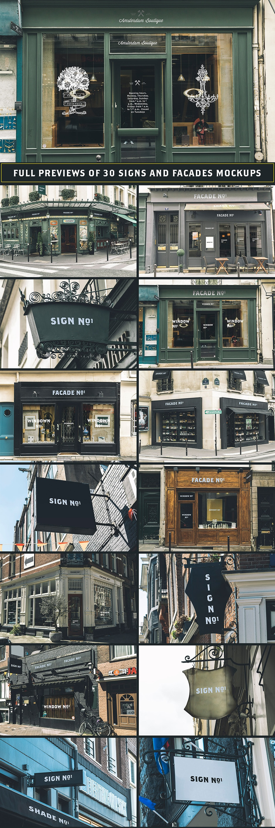 Signs and Facades