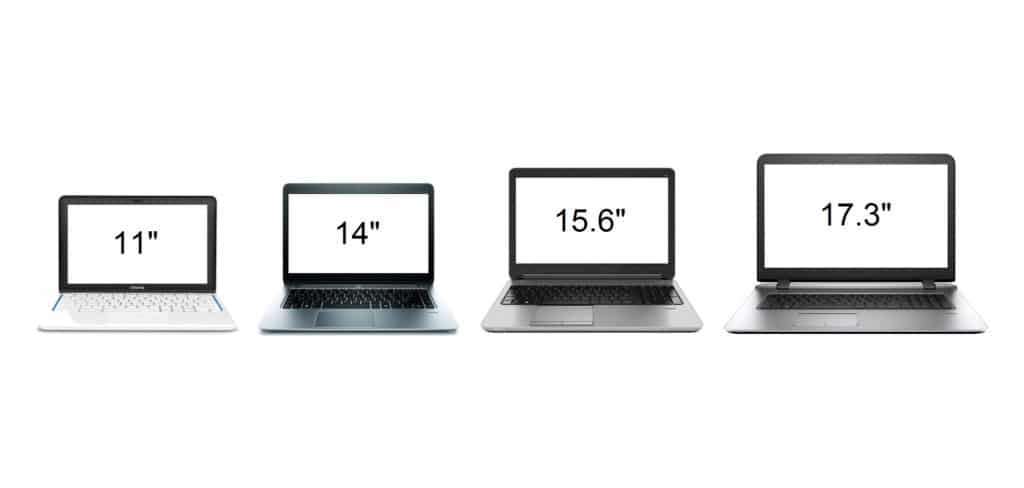 Laptop Screen Sizes