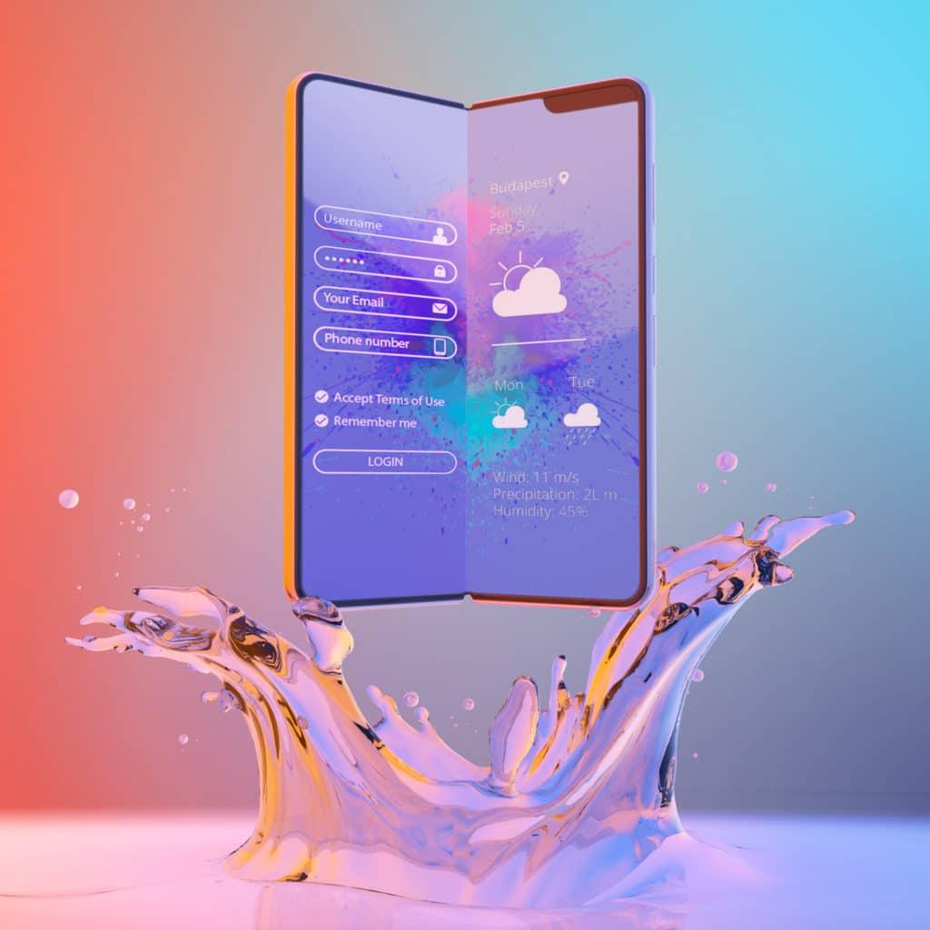 4x Free Samsung Fold Phone PSD Mockups