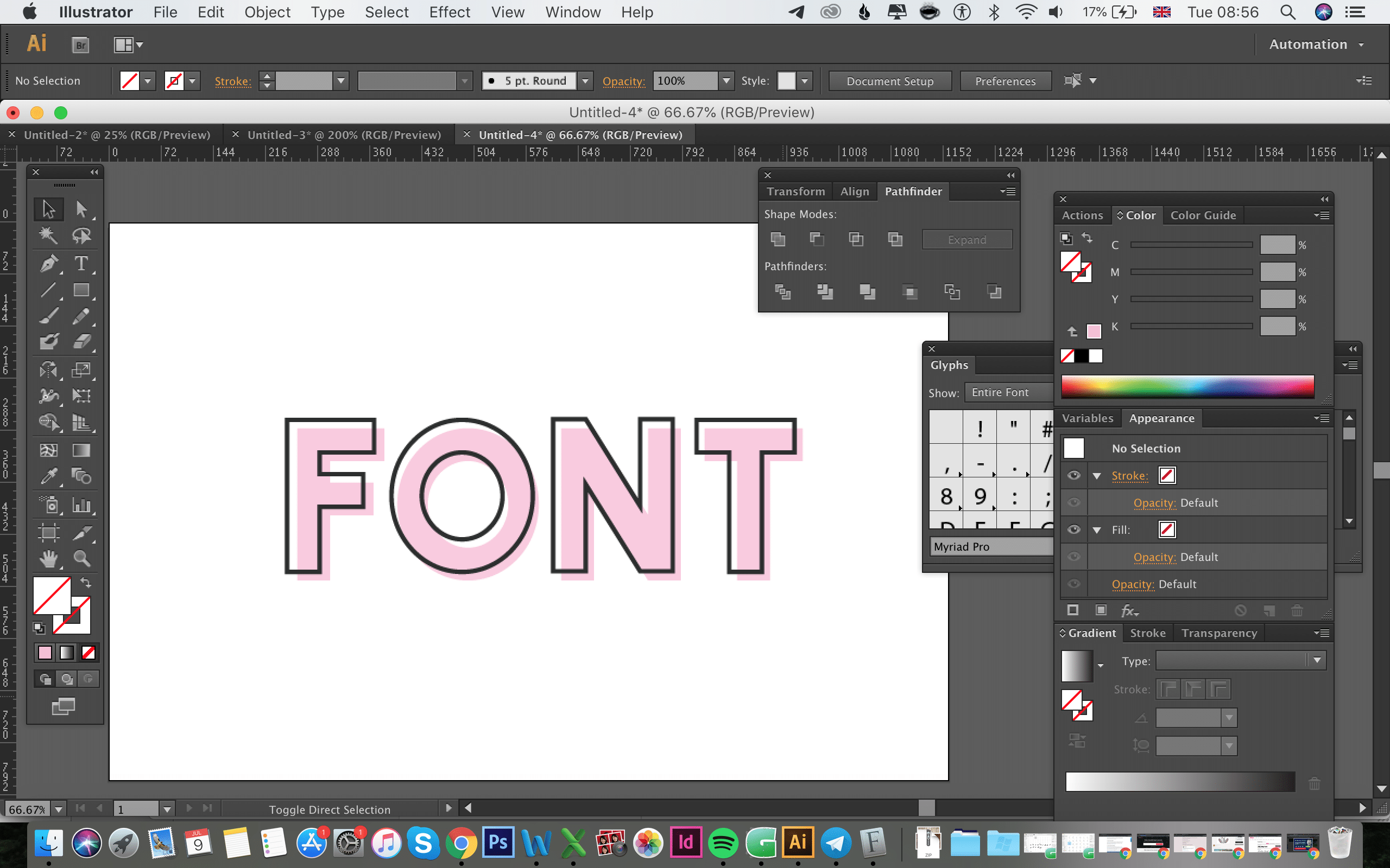 Our completed design showing both font's