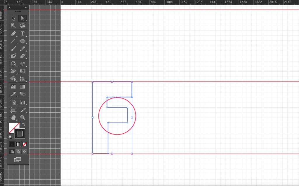 How to edit the lower extender of your F shape