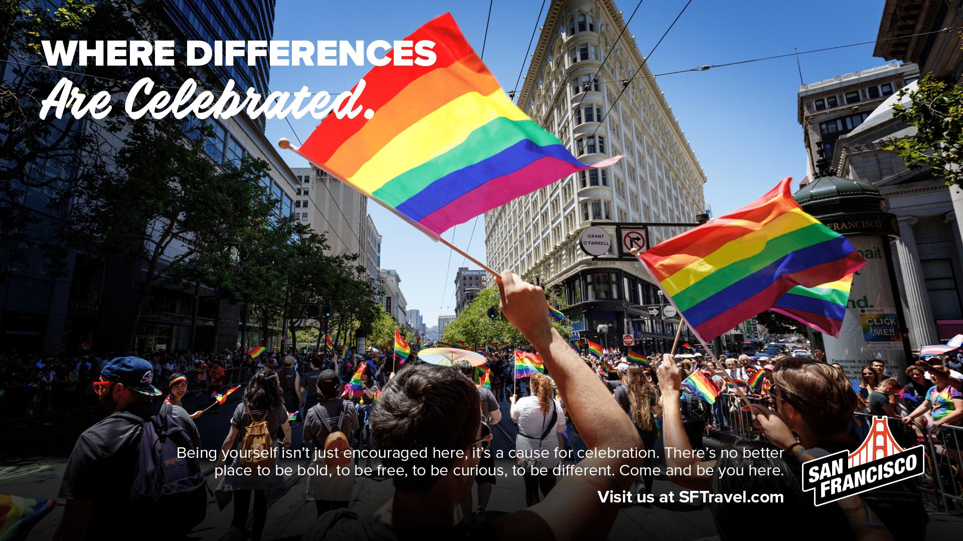 San Francisco Print Ad - Pride Flag