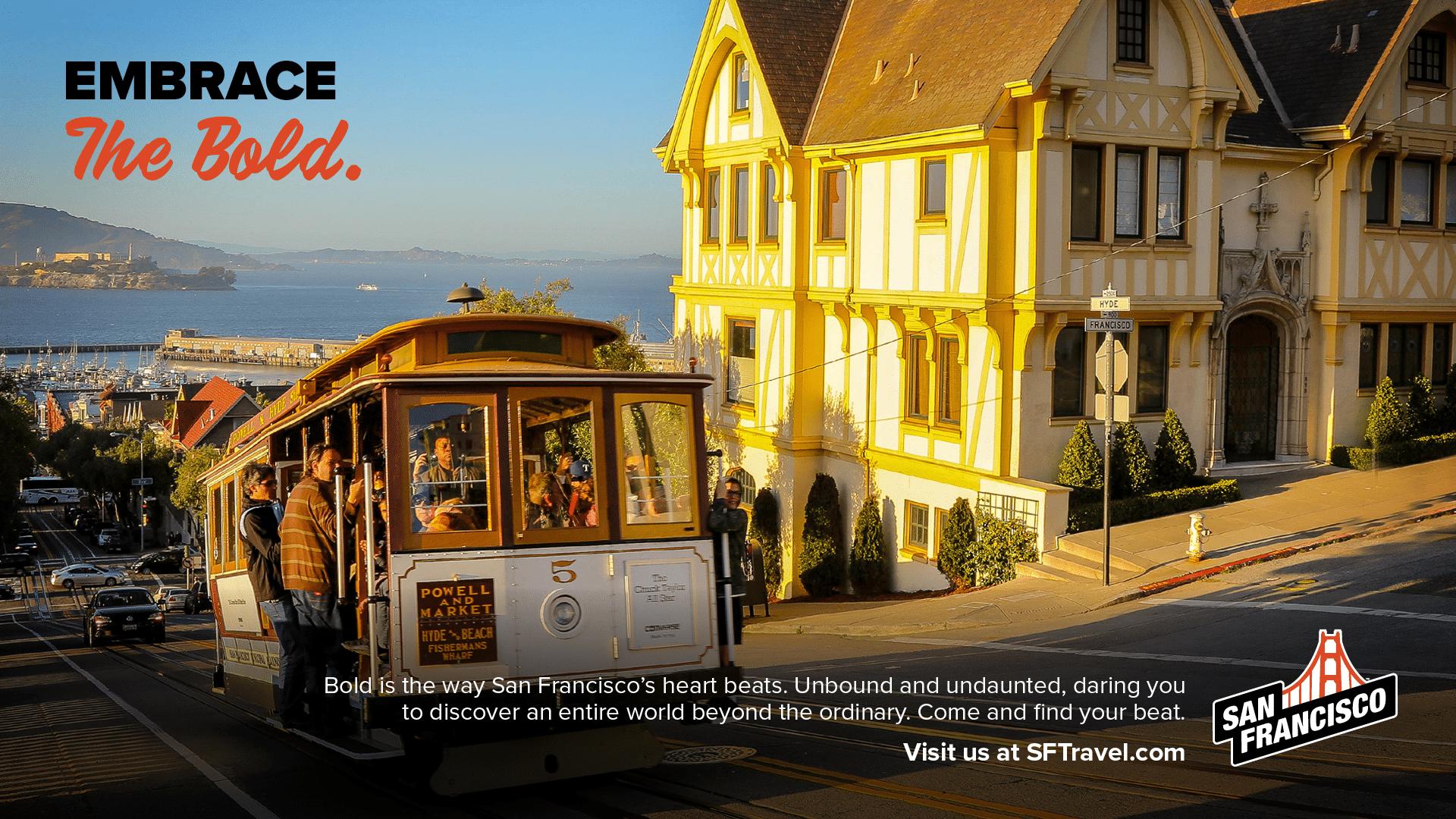 San Francisco Print Ad - Tram