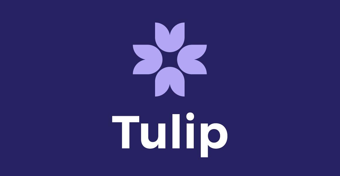 Tulip Logo on Blue