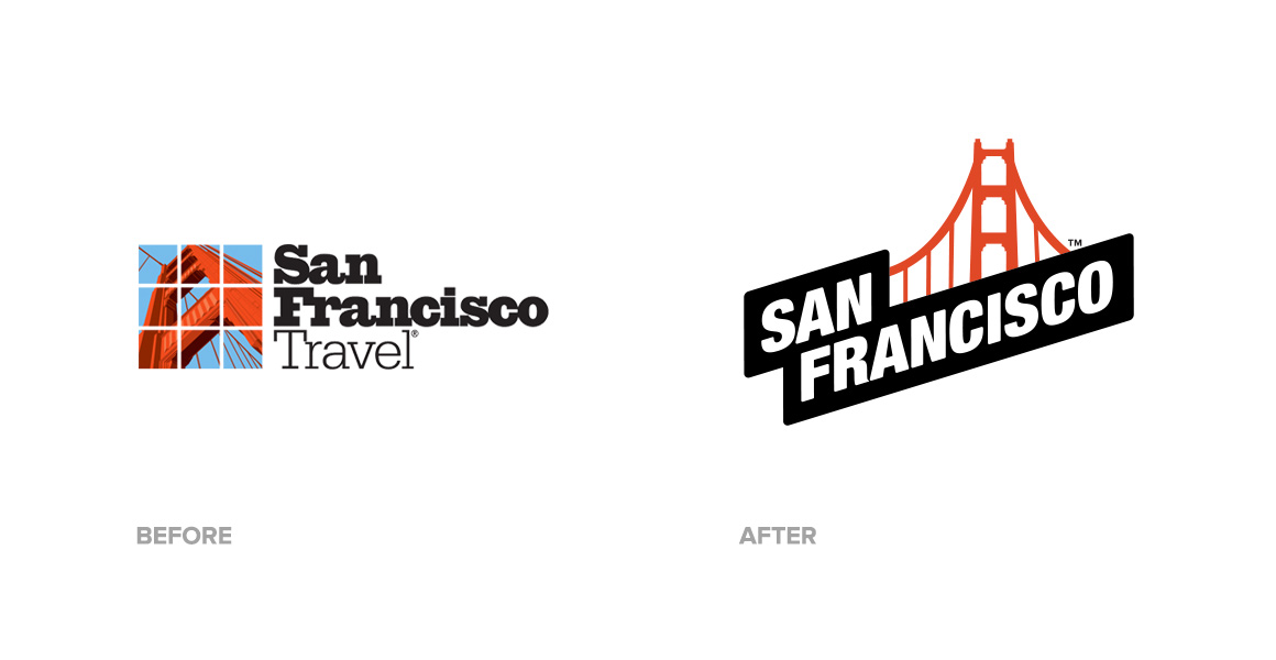 San Francisco Travel Before After Logo