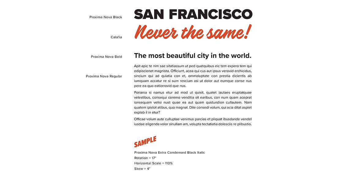 San Francisco Brand Typography