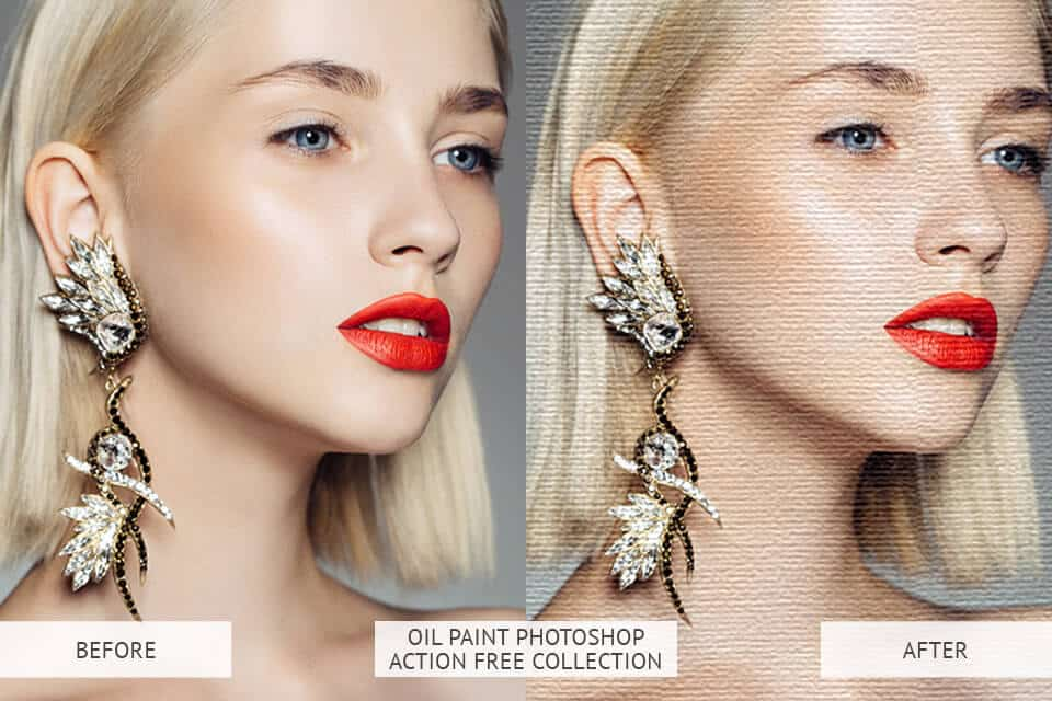 Oil Paint Photoshop Action – Free Collection