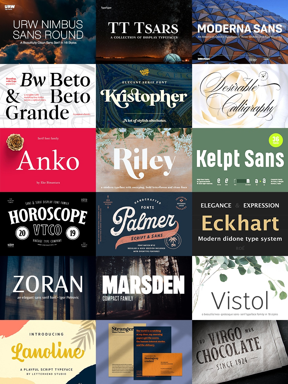 The Super Versatile Font Bundle - 99% Off | JUST™ Creative