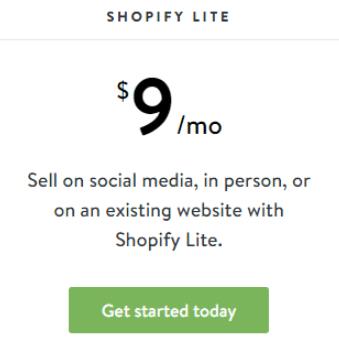 Shopify-lite-plan
