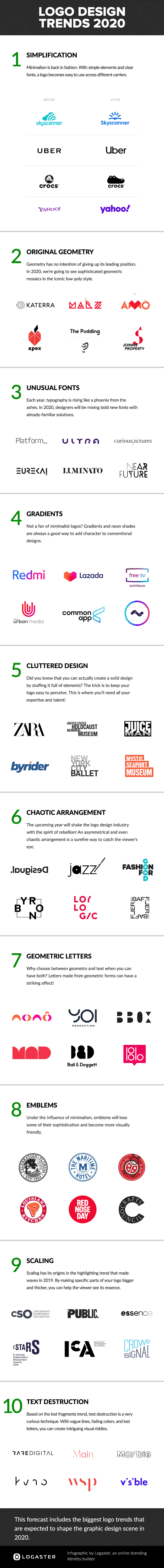 Logo Design Trends 2020 Infographic