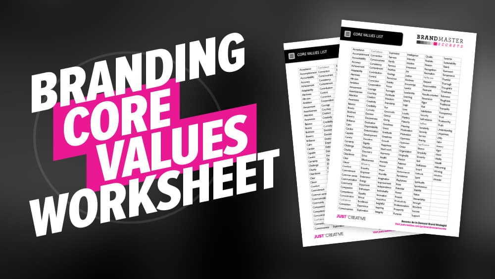 Core Values Worksheet PDF Freebie
