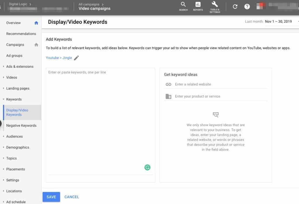Targeting with Keywords