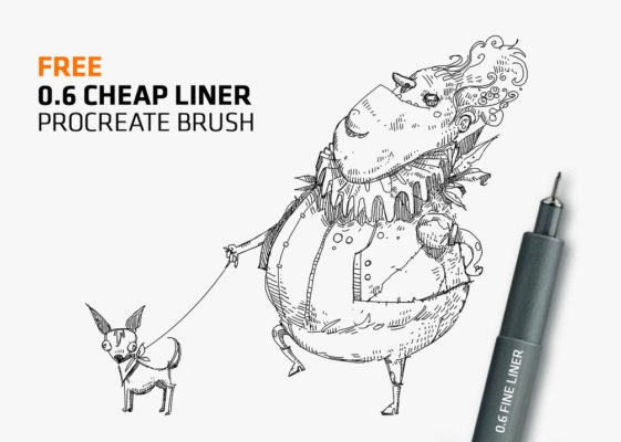 Cheap Fine-Liner Brush