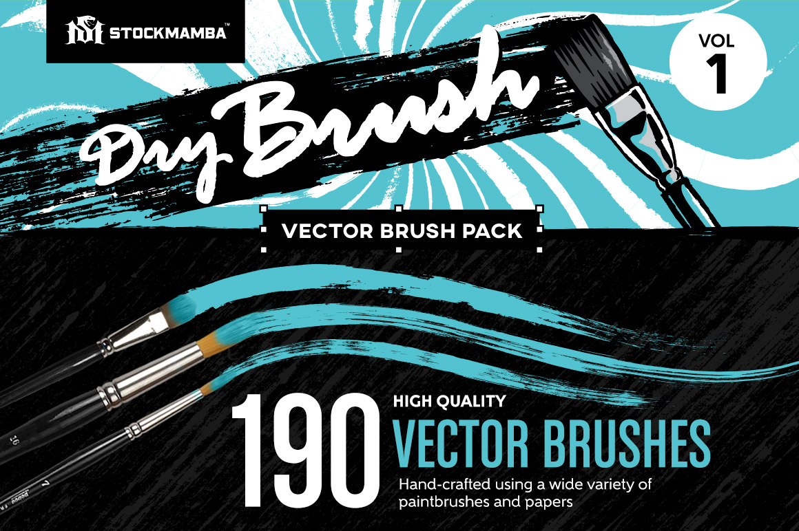 Dry Brush Vector Brush Pack Volume 1
