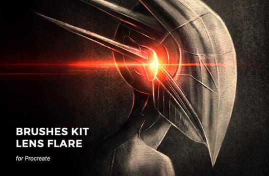Galactic Lens Flare Brushes Kit