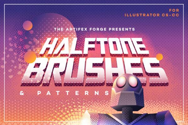 Halftone Brushes & Bonus Patterns