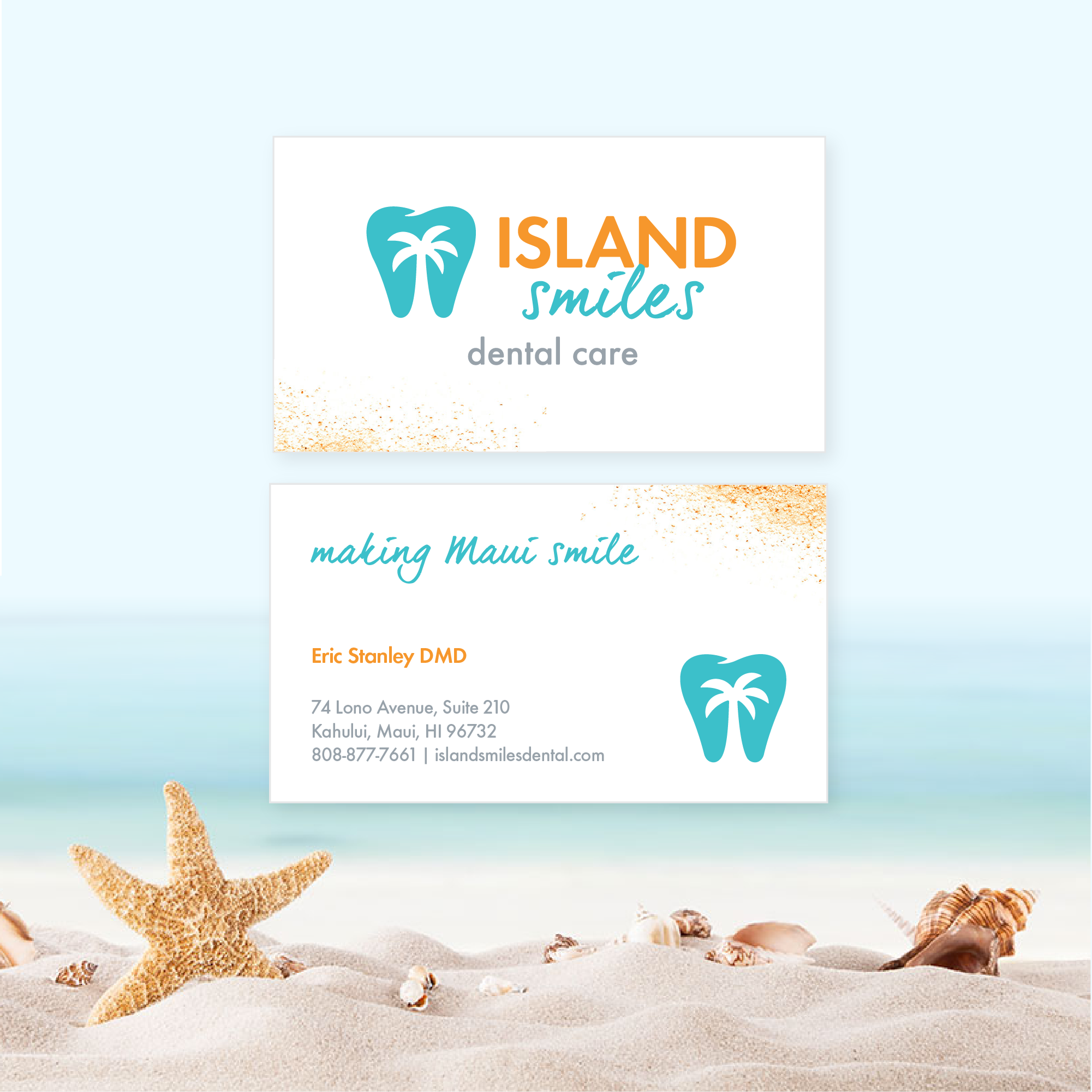 Dentist Business Cards - Island Smiles