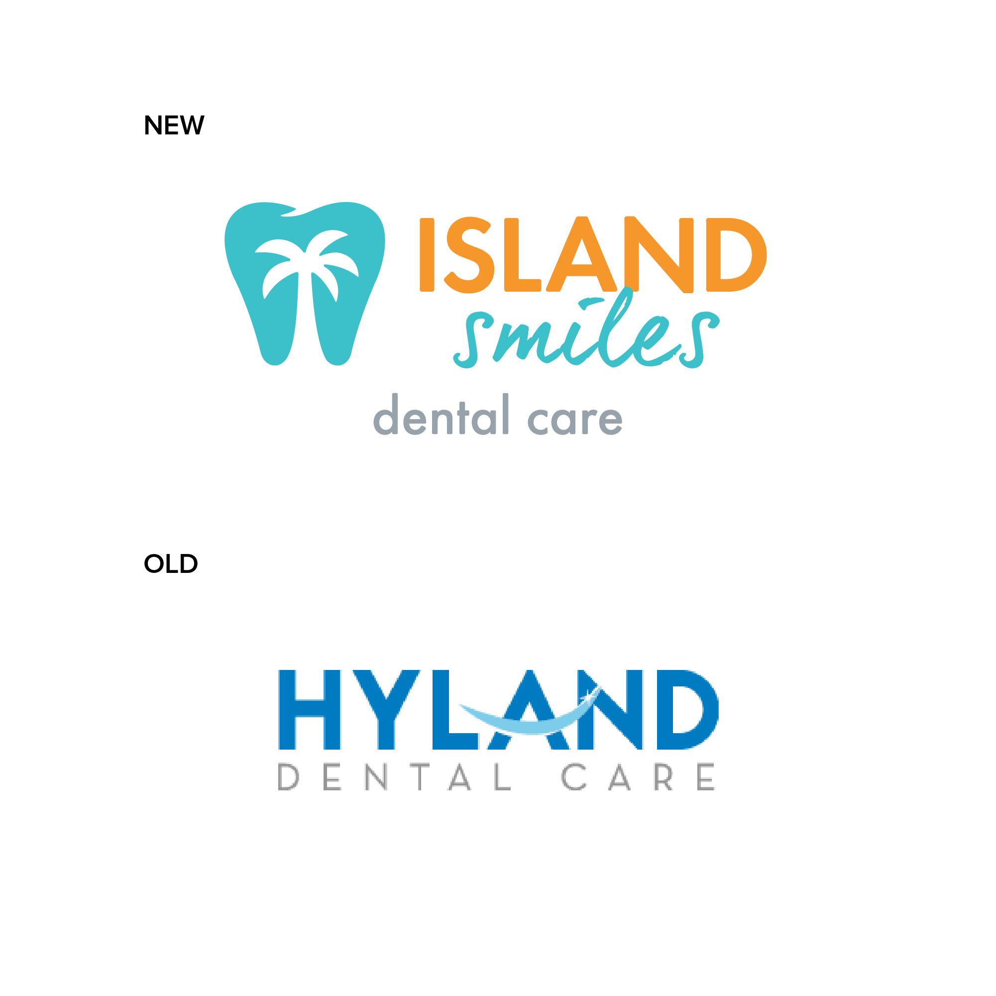 Before & After Dentist Logo Design