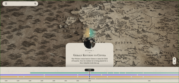 The Witcher Homepage - Example of Interactivity - Web Design Trends 2020
