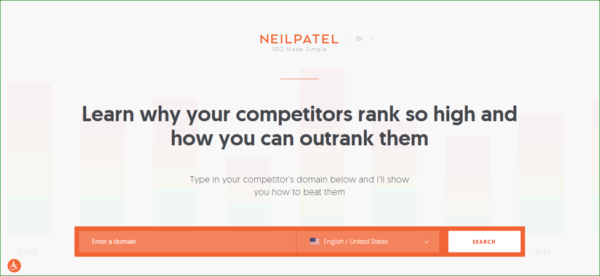 Neil Patel Homepage - Example of Interactivity - Web Design Trends 2020